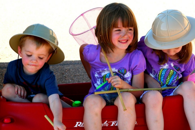 Kids in a Wagon - Nikki MacLeay, all rights reserved